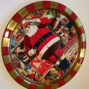 Holiday Charger Plate SANTA CLAUS